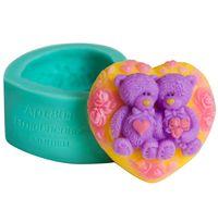 """Форма для изготовления мыла """"Влюбленные мишки"""""""