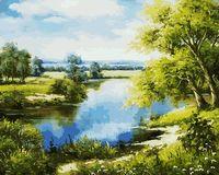 "Картина по номерам ""Лесное озеро"" (400х500 мм)"