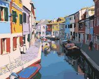 """Картина по номерам """"Красочные дома. Венеция"""" (400x500 мм)"""