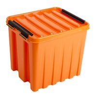 Ящик для хранения с крышкой (4,5 л; оранжевый)