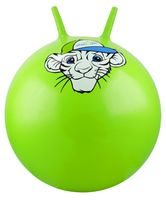 """Мяч-попрыгун """"Тигрёнок"""" (55 см; с рожками; зелёный)"""
