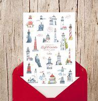 "Набор виниловых наклеек ""Lighthouses"""