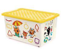 """Ящик для хранения игрушек """"Три кота. Обучайка"""" (арт. LA1227)"""