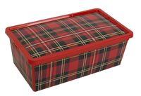 """Ящик для хранения с крышкой """"Клетка"""" (34х19х12 cм)"""