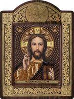 """Вышивка бисером """"Христос Спаситель"""" (с рамкой)"""