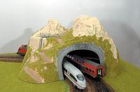 """Игровой набор """"Туннель угловой двухпутный"""""""