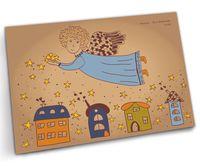 """Открытка """"Ангельские звезды ночного города"""" (арт. 1106)"""