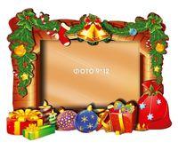 """Объемная аппликация """"Рамка. Новогодние подарки"""""""