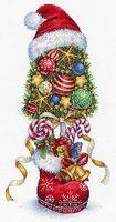 """Вышивка крестом """"Топиарий. Новогодний"""" (360x180 мм)"""
