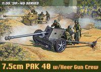 """Противотанковое орудие """"7.5cm Pak 40 w/Heer Gun Crew"""" (масштаб: 1/35)"""
