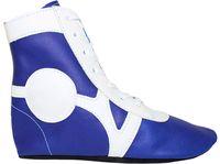 Обувь для самбо SM-0102 (р.36; кожа; синяя)