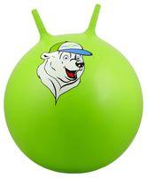 """Мяч-попрыгун """"Медвежонок"""" (65 см; с рожками; зелёный)"""