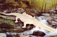"""Сборная деревянная модель """"Аллигатор"""""""