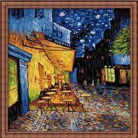 "Картина по номерам ""Ночная терасса кафе"" (400х400 мм)"
