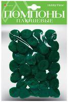 Помпоны плюшевые (40 шт.; 25 мм; зеленые)