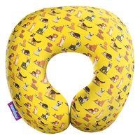 """Подушка под шею """"Собачий вальс"""" (34х34 см; жёлтая; арт. H3434C1708A807YL)"""