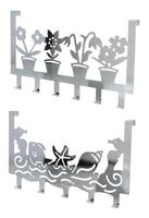 Вешалка для полотенец металлическая на дверь (6 крючков; 398х217 мм)