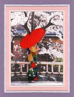 """Вышивка бисером """"Пышное цветение сакуры"""" (400х266 мм)"""