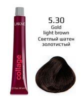 """Крем-краска для волос """"Collage Creme Hair Color"""" (тон: 5/30, светлый шатен золотистый)"""