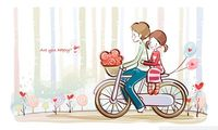 "Картина по номерам ""Прогулка на велосипеде"" (300x400 мм; арт. ME030)"