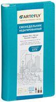 """Еженедельник недатированный """"City"""" (80x160 мм; бирюзовый)"""