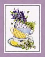 "Вышивка бисером ""Лавандовый чай"" (200х160 мм)"