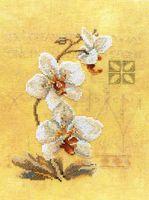 """Вышивка крестом """"Восточные цветы"""" (170х230 мм)"""