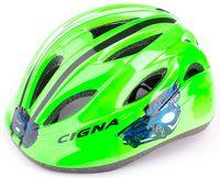 """Шлем велосипедный детский """"WT-021"""" (чёрно-зелёный)"""