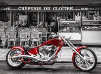 """Картина по номерам """"Красный мотоцикл"""" (400х500 мм)"""
