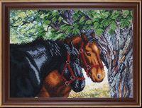 """Вышивка бисером """"Пара лошадей"""""""