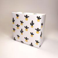"""Подарочная коробка """"Кактусы"""" (16x16x7,5 см)"""