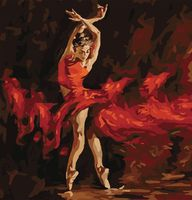 "Картина по номерам ""В огненном танце"" (400x500 мм; арт. MG523)"