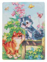 "Пазл-рамка ""Два котенка"" (7 элементов)"