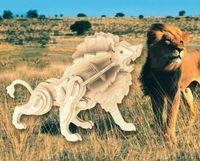 """Сборная деревянная модель """"Маленький лев"""""""