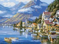 "Картина по номерам ""Пейзаж у альпийского озера"" (400х500 мм)"