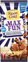 """Шоколад молочный """"Alpen Gold. Max Fun. Взрывная карамель, попкорн и кола"""" (160 г)"""