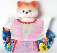 """Мягкая игрушка на руку """"Кошка"""" (25 см)"""