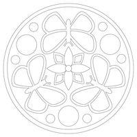 """Трафарет для рисования песком """"Мандала №3"""" (21x21 см)"""