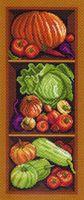 """Канва с нанесенным рисунком """"Полка с овощами"""""""
