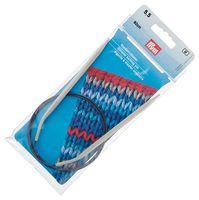Спицы круговые для вязания (алюминий; 5,5 мм; 80 см)