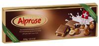 """Шоколад молочный """"Alprose"""" (300 г; с цельными лесными орехами)"""