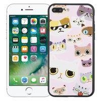 """Чехол для iPhone 7/8 Plus """"Крутые коты"""" (розовый)"""