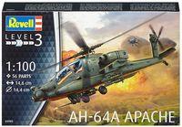 """Сборная модель """"Американский ударный вертолет AH-64A Apache"""" (масштаб: 1/100)"""