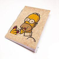 """Блокнот крафт """"Гомер Симпсон"""" А7 (арт. 002)"""