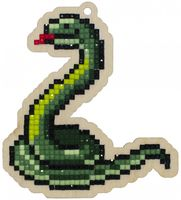 "Алмазная вышивка-мозаика ""Брелок. Змейка"" (88х98 мм)"