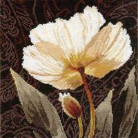 "Вышивка крестом ""Белые цветы. Залитый светом"" (250х250 мм)"