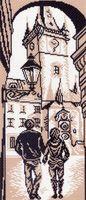 """Канва с нанесенным рисунком """"Городская ратуша"""""""