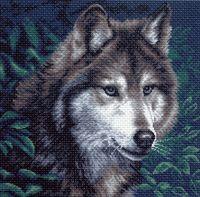 """Канва с нанесенным рисунком """"Волк"""" (арт. 970)"""