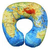 """Подушка под шею """"Карта мира"""" (34х34 см; голубая)"""