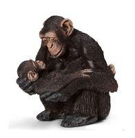 "Фигурка ""Самка шимпанзе с детенышем"" (5,5 см)"